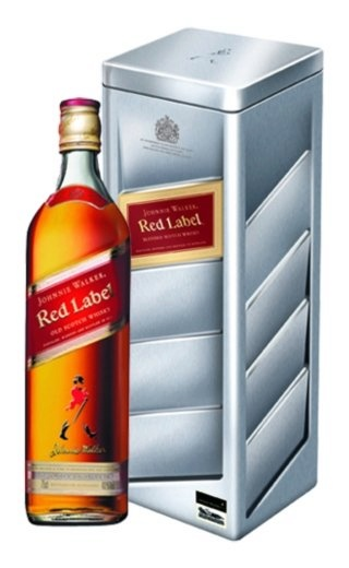 фото виски Johnnie Walker Red Label Racing Red Tin 0,75 л