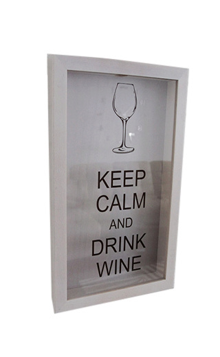 Box for wine corks Keep Calm And Drink Wine Beech