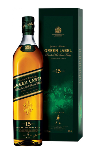 фото виски Johnnie Walker Green Label Contour Pack 0,75 л