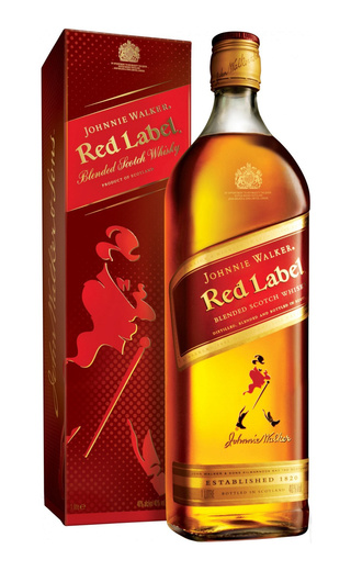 фото виски Johnnie Walker Red Label Racing Red Tin 1 л